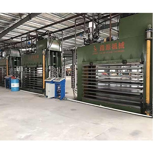 Ecological board automatic paving line